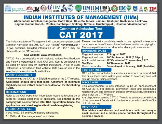 All About CAT 2017